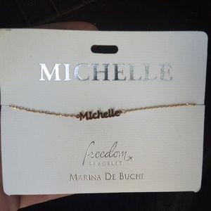 Marina De Buchi Freedom Bracelet Gold Script Name